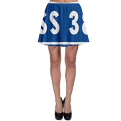 Italy State Highway 38 Skater Skirt by abbeyz71