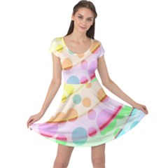 Bubbles On A Rainbow Cap Sleeve Dress by TimelessFashion