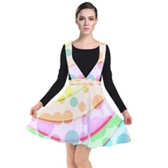 Bubbles On A Rainbow Plunge Pinafore Dress by TimelessFashion