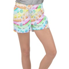 Bubbles On A Rainbow Women s Velour Lounge Shorts by TimelessFashion