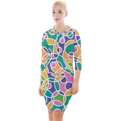 Circling Time 3 Quarter Sleeve Hood Bodycon Dress by TimelessFashion