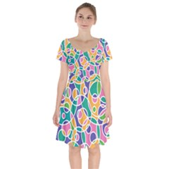 Circling Time 3 Short Sleeve Bardot Dress by TimelessFashion