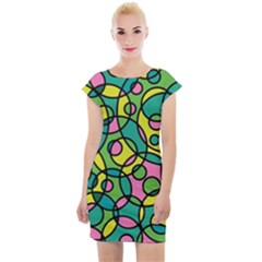 Circling Time 2 Cap Sleeve Bodycon Dress by TimelessFashion