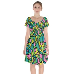 Circling Time 2 Short Sleeve Bardot Dress by TimelessFashion