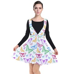 Colorfull Butterflies Plunge Pinafore Dress by TimelessFashion