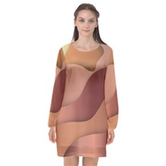 Colors Of Autumn Long Sleeve Chiffon Shift Dress  by TimelessFashion