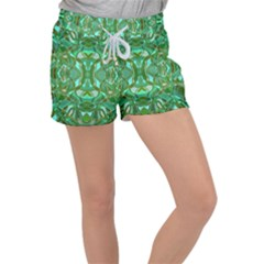 Abstract #8   Aqua Jungle 6000 Women s Velour Lounge Shorts by KesaliSkyeArt