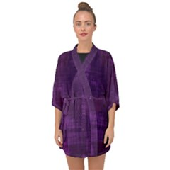 Fabric In Purple Half Sleeve Chiffon Kimono by TimelessFashion