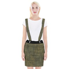 Leather Yellow  Braces Suspender Skirt