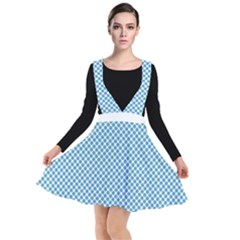 Polka Dot Blue  Plunge Pinafore Dress by TimelessFashion