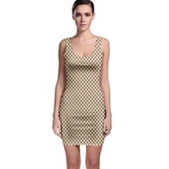 Polka Dot Brown Bodycon Dress by TimelessFashion