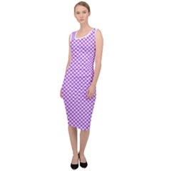 Polka Dot Purple Sleeveless Pencil Dress by TimelessFashion
