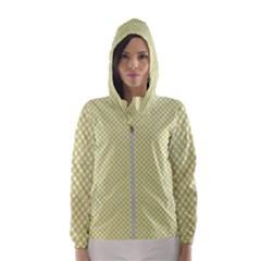 Polka Dot Yellow  Hooded Windbreaker (women) by TimelessFashion