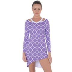 Vintage Tile Purple  Asymmetric Cut Out Shift Dress by TimelessFashion