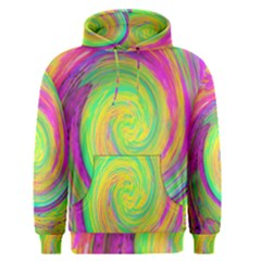 Groovy Abstract Purple And Yellow Liquid Swirl Men s Pullover Hoodie by myrubiogarden