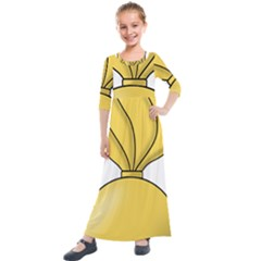 Insignia Of U S  Army Ordnance Corps Kids  Quarter Sleeve Maxi Dress by abbeyz71