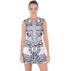 U S  Army Combat Medical Badge Lace Up Front Bodycon Dress by abbeyz71