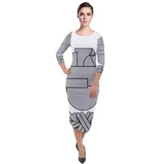 U S  Army Combat Action Badge Quarter Sleeve Midi Velour Bodycon Dress by abbeyz71