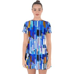 Color Colors Abstract Colorful Drop Hem Mini Chiffon Dress by Pakrebo