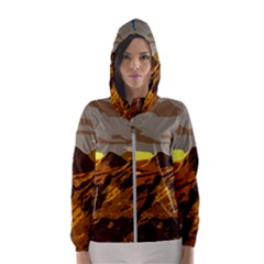 Scotland Monti Mountains Mountain Hooded Windbreaker (women)