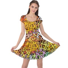 Color Colors Network Networks Cap Sleeve Dress by Pakrebo