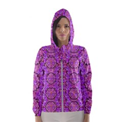 Paradise Blossom Tree On The Mountain High Hooded Windbreaker (women) by pepitasart