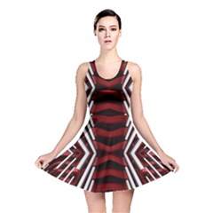 Red & White Stripes  Reversible Skater Dress by WensdaiAddamns