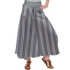 Nice Stripes In Steel Grey Satin Palazzo Pants by TimelessFashion