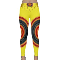 Art Decoration Wallpaper Bright Classic Yoga Leggings by Pakrebo