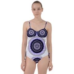 Design Circular Pattern Mandala Sweetheart Tankini Set