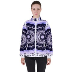 Design Circular Pattern Mandala High Neck Windbreaker (women) by Pakrebo