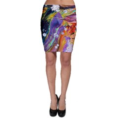 Abstract Modern Detail Color Bodycon Skirt by Pakrebo
