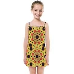 Fractal Art Design Pattern Kids  Summer Sun Dress