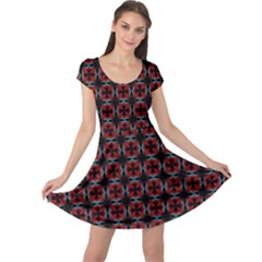 Pattern Design Artistic Decor Cap Sleeve Dress by Pakrebo
