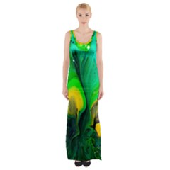 Art Abstract Artistically Painting Maxi Thigh Split Dress