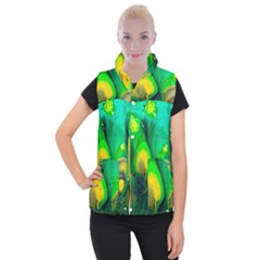 Art Abstract Artistically Painting Women s Button Up Vest by Pakrebo