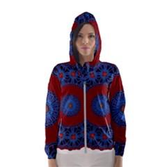 Mandala Pattern Round Ethnic Hooded Windbreaker (women) by Pakrebo
