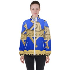 U S  Army Military Intelligence Corps Regimental Insignia High Neck Windbreaker (women) by abbeyz71