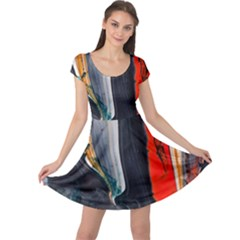 Art Modern Painting Background Cap Sleeve Dress by Pakrebo