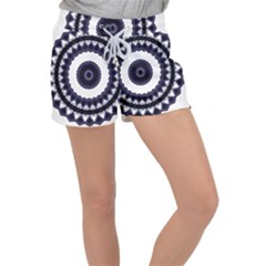 Design Mandala Pattern Circular Women s Velour Lounge Shorts by Pakrebo