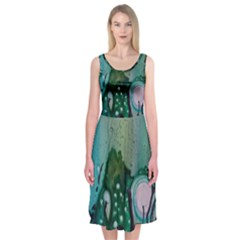 Abstract Art Modern Surreal Midi Sleeveless Dress