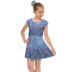 Design Computer Art Abstract Kids  Cap Sleeve Dress