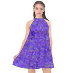 Blur Halter Neckline Chiffon Dress  by artifiart