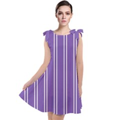 Nice Stripes In Royal Purple Tie Up Tunic Dress by TimelessFashion