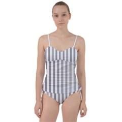 Nice Stripes In White  Sweetheart Tankini Set