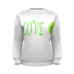 I Lovetennis Women s Sweatshirt by Greencreations