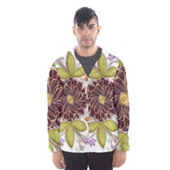 Flowers Decorative Flowers Pattern Hooded Windbreaker (men) by Pakrebo