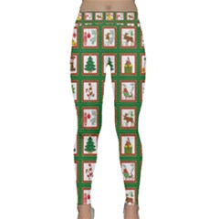 Christmas Paper Christmas Pattern Classic Yoga Leggings by Pakrebo