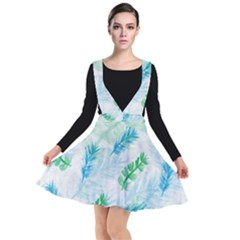 Pattern Feather Fir Colorful Color Plunge Pinafore Dress by Pakrebo