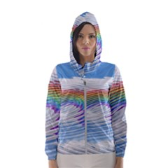 Rainbow Clouds Intimacy Intimate Hooded Windbreaker (women) by Pakrebo